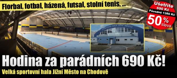 Sportmart - Hodina ve sportovní hale Jižní Město za mimořádných 690 Kč!  Florbal b8f57b30d9